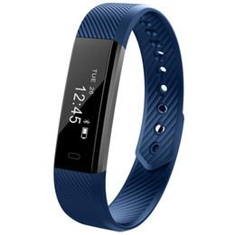 Wholesale Male Vibrating - DHL free ID115 Smart Sport Bracelet Fitness Watch Activity Tracker Sleep Monitor Wristband Vibrating Alarm Clock Smartband pk mi band2