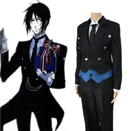Wholesale Sebastian Anime - Sebastian Michaelis cosplay costumes Japanese anime Black Butler clothing Halloween Masquerade Mardi Gras Carnival costumes