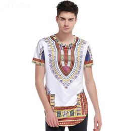 Wholesale ethnic print shirt - Brand Men African Ethnic Clothing 3D Men's Printing Hip Hop Street T-shirt Men Short Sleeve O-neck Casual T shirt Tops