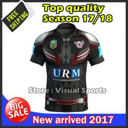 Wholesale Patriots Xxl - 2017 New Zealand rugby Jersey Newcastle Knights Iron Patriot Brisbane MANLY SEA EAGLES 17 18 Rugby jersey MAN JERSEY