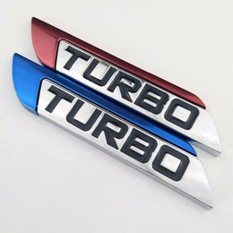 Wholesale Chevrolet Car Stickers - WING CHUN 3D Metal Turbo Car Sticker Cover for Focus VW Skoda Peugeot DS Renault Hyundai Chevrolet Benz Toyota High Quality