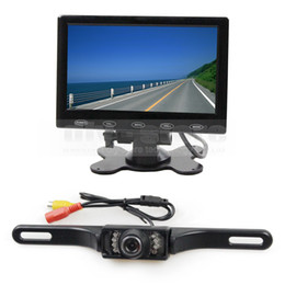 Wholesale Car Monitor Cables - 7inch Touch Button Ultra-thin Screen Car Monitor + IR Night Vision Rear View Car Camera + 5m Video Cable
