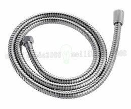 Wholesale Flexible Steel Hose - Bathroom Replacement Anti-twist Shower Hose 1.5m flexible Stainless Steel chrome shower head bathroom water hose MYY