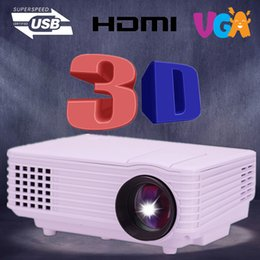 Wholesale Cheaper Projector Led 3d - Wholesale-Cheaper 800 lumens HD HDMI USB 1080p Home theater Led LCD Portable movie Projector Digital Video 3D Proyector beamer