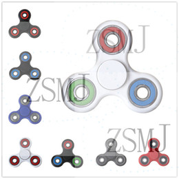 Wholesale Wholesale Top Shop - Having Stocks 15 Styles Hand Spinner Tri Fidget Ceramic Bearing Desk Focus Toy EDC For Kids Adults Spinning Top Free Shopping