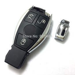 Wholesale Mercedes Benz Remote - Replacement Remote Control Key Cover for Mercedes Benz E Series car Smart Key blank without ship inside with logo