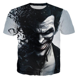 оптовые женские черные рубашки Скидка Wholesale- Suicide Squad Womens Mens  Quinn The Joker T Shirts Man 3D T Shirt Black Red Short Sleeve Clothes