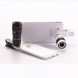 Universal 8X Zoom Óptico Telefone Inteligente Telescópio Lente Da Câmera Com Removível Clipe de Telefone Celular Acessórios de Fotografia de