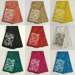 Wholesale White Swiss Cotton Voile Lace - African Lace Fabric many color Swiss Voile Lace High Quality sequined Emboridery Cotton French Mesh Lace Fabric Material PL2205
