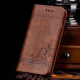 großhandelsgalaxie-abdeckungsdiamant Rabatt Für iphone x Luxuxmarkenledergeldbörsenklappentelefonkasten für iPhone 8 7 6S 6 plus Rand Samsung-Galaxie-S8 mit den Kartenschlitzen, die Blume prägen