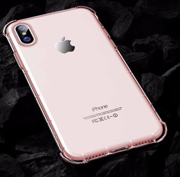 Wholesale Light For Corner - Clear Dirty Resistant Silicon Light Weight Case for iphone X Transparent Hard PC Back+TPU Bumper Corner Cushion Shockproof phone Shell