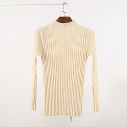 Wholesale high turtleneck sweater - Wholesale- High quality 2016 Classic Women Cashmere Slim warm Sweater 2016 Fashion Solid Autumn Winter Knitted Turtleneck Pullover