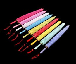 Wholesale Beach Parasol Wholesalers - (50 pieces lot) New elegant Chinese craft umbrellas Bridal long-straight wedding parasol Diameter 33 inches 9 colors available