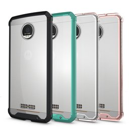 Wholesale Silicone Phone Skin Case - For MOTO Z Case Transparent Clear Hybrid Bumper Shockproof Back Cover Skin Phone Accessories For MOTO Z