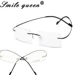Wholesale Titanium Rimless Glasses Wholesale - Wholesale- Retail 7 Colors Ultra-Light Rimless Clear Fashion Glasses Frame Memory Titanium Eyeglasses Frames Optical Frames Oculos De Grau
