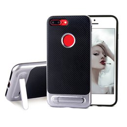 Wholesale Sgp Cases - For Iphone 7 6 6s Plus Samsung J7 Prime S7 Edge SGP TPU Hybrid PC Armor Back Cover With Stand Case With Retailpackage