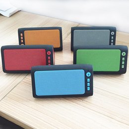 Wholesale Hot Items Wireless - new item hot sell triangle Bluetooth Speaker LED subwoof support USB TF card radio DHL free shipping