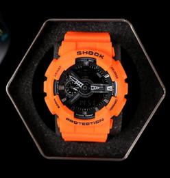 Wholesale Sport Led Digital Watch Women - All Pointer work men women G 110 sport watch LED Waterproof Sports Hiking ga 100 400 watches Drop Ship