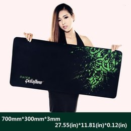 Wholesale Silicone Mouse Pads - Wholesale- Hot Rubber Razer Goliathus Mantis Speed Game Mouse Pad Mat Large XL Size 700*300*3MM Free Shipping