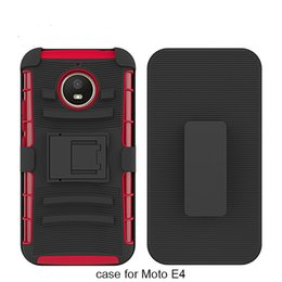 Wholesale Chinese Combo - For MOTO E4 Z play (2017) ZTE Z max pro 2 PC+TPU Shockproof Slip holder 3 in 1 Kickstand Combo Hard Back Cover