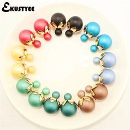 Wholesale Studs For Cloths - 20 Pairs Wholesale Frosted Matte Stud Earring for Women Classic Flower Charm Matt Double Sided Earring for Cloth Accessories