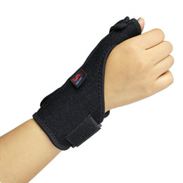Wholesale Brace Splint - Wholesale- 1pc package Elastic Thumb Wrap Hand Palm Wrist Brace Splint Support Arthritis Pain Sport Training Thumb Fitted Correction HBK005