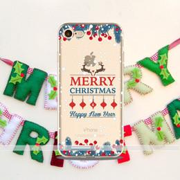 2017 Nouveau Cas Cadeau De Noël Pour iphone 8 7 6 6 s plus 5 5s 5c SE 4 4S TPU boîte Noël neige anti-chute cas de téléphone portable protecteur ? partir de fabricateur