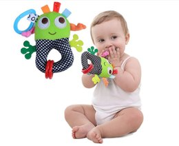 Wholesale Hanging Baby Toys - Baby Toys Kids Rattles Ring Bell Cute Animal Plush Toys for Children Infant Teether Hanging Strollers Sound Toys