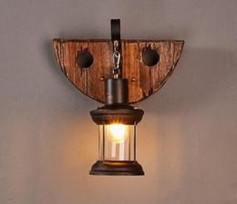 Wholesale Art Deco Clothing - Solid Wood Loft Wall Lamp Vintage Style Creative Clothes Shop Bar Corridor Sconce Lighting Fixture MYY
