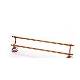 Toalha dourada on-line-2015 Venda Hot Style Europeia Ouro cristal sólido de latão prateleiras Rail Única barra de toalha Titular de casa de banho toalheiros