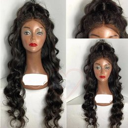 Wholesale Hairstyles For Long - 100 Unprocessed Virgin Brazilian Loose Wave Wig With Baby Hair Best Brazilian Glueless Full Lace Human Hair Wigs For Black Women