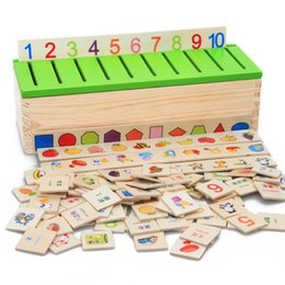 Wholesale Number Blocks Children - Wholesale- 2017 Animals Numbers Fruits All Kinds Blocks Wooden Jenga Game Learning Educational Toys Children Kids Toy Christmas Gifts MZ50