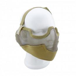 máscaras de metal airsoft Desconto Top Quality Tactical máscara facial Genérico Tático Airsoft CS Jogo Protective Guard Malha De Metal Metade Máscara Facial