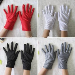 Wholesale Baby White Cotton Gloves - 2017 new children gloves cotton baby Stage performance gloves 4 colors Short section kids Mittens