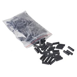 Wholesale Bicycle Derailleur Set - Bicycles Derailleur Shift Cable End Caps Core Inner Wire Ferrules 500PCS Cycling Mountain Bike 4mm 5mm Brake Cable Tips Crimps 2505044