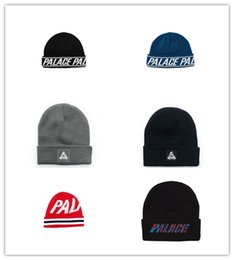 Wholesale Hip Hop Beanies Men - HOT! 2017 Winter Palace Beanies Hats Palace Skateboards Knit Hats Hiphop Street Cap men women Hip-hop Street Knitted Caps