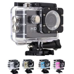 Wholesale Underwater Diving Video - Waterproo A7 Sport Cam HD 1080P Helmet Sports DV Video Car Cam DV Action Waterproof Underwater 30M Camera Camcorder for Diving Surfing