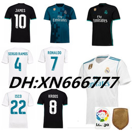 Wholesale Bale Real Madrid - Real madrid 2018 jerseys RONALDO ASENSIO MODRIC soccer jersey football shirt BALE RAMOS BENZEMA Camiseta 17 18 real madrid maillot