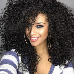 Wholesale Dark Brown Glueless Lace Wig - Glueless Full Lace Wigs with Baby Hair Virgin Brazilian Hair Curly Lace Front Human Hair Wig for Black Women FDSHINE