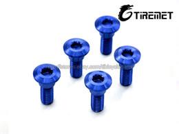Wholesale Gsxr Brake Disc Rotor - Titanium Ti M8x33mm Blue color Suzuki GSXR Disc Brake Rotor Bolt Screws 6pcs Motor