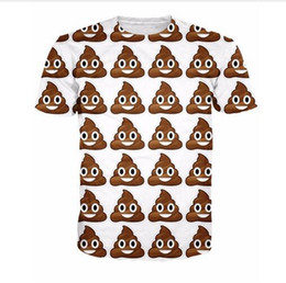 Wholesale Cute Summer Tops For Women - 2017 new arrive Poop Emoji T-Shirt cute turd characters 3d print t shirt fashion clothing tops Summer Style tee for women men AB115