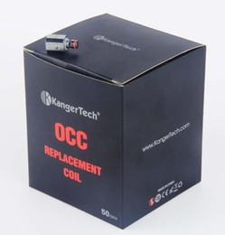 Kanger subox mini bobinas de substituição on-line-Vertical Kanger Subtank OCC Bobinas Clone 0.5 1.2 1.5 Ohm bobina Cabeça Substituição para subox nano Mini v2
