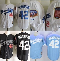 e23c2457 1955 White Throwback Jersey Brooklyn Dodgers Throwback Jersey Double Patch  (50ème 42ème ... Mens White Jackie Robinson Jersey - Los Angeles ...