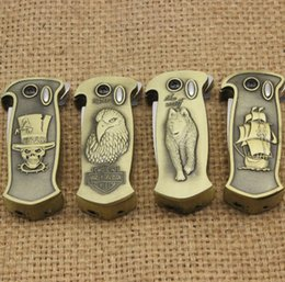 Wholesale Knife Windproof Lighter - Free Shipping creative multi-function with automatic spring knife and beer opener metal windproof lighter