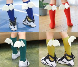 Wholesale Girls Matching Tight - 2017 Top Selling Baby Girls Long Stockings 11 Candy Colors Leggings Stockings With Wings Girls Tights Good Match Cute Leggings Socks Q0838