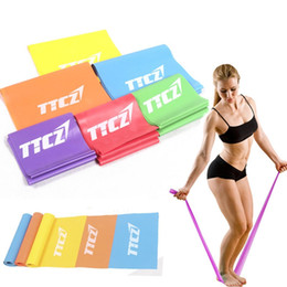 Wholesale Elastic Stretch Loops - New Rubber Elastic Yoga Resistance Bands Exercise Fitness Loop Rope Stretch Band Crossfit Strength Weight Training Yoga