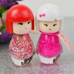 Wholesale Nude Dolls - Wholesale-7ml Cute Little Girl Pure Color Nail Polish Doll Head With Multi-Color Environment Friendly DIY Nail