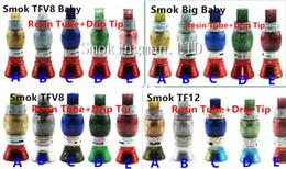 Vidro de substituição de cigarro eletrônico on-line-Shinny Dólar Resina Tubo de Substituição Tampas com Pontas de Gotejamento Grande Capacidade para o Vidro Do Cigarro Eletrônico TFV12 TFV8 Grande Baby Tfv8 ponta Do Bebê