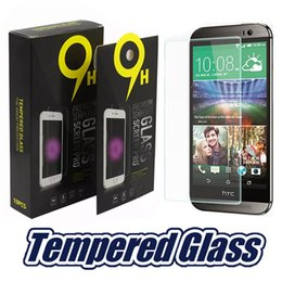 Wholesale M7 Screen Protectors - For HTC M9 one max Screen Protector M8 Tempered Glass M7 0.33mm 2.5D Protecter Screen Film Perfect Protection With Paper Package