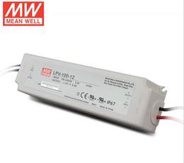 Wholesale 5v 12v Power Input - 100% Original Meanwell LPV DC 5V 12V 15V 100W Transformers UL CE waterproof LED power supply Driver for outdoor Lighting input AC 110V 220V